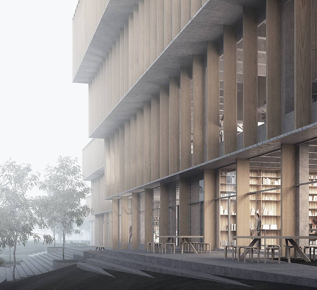 cobe aau science and innovation hub render