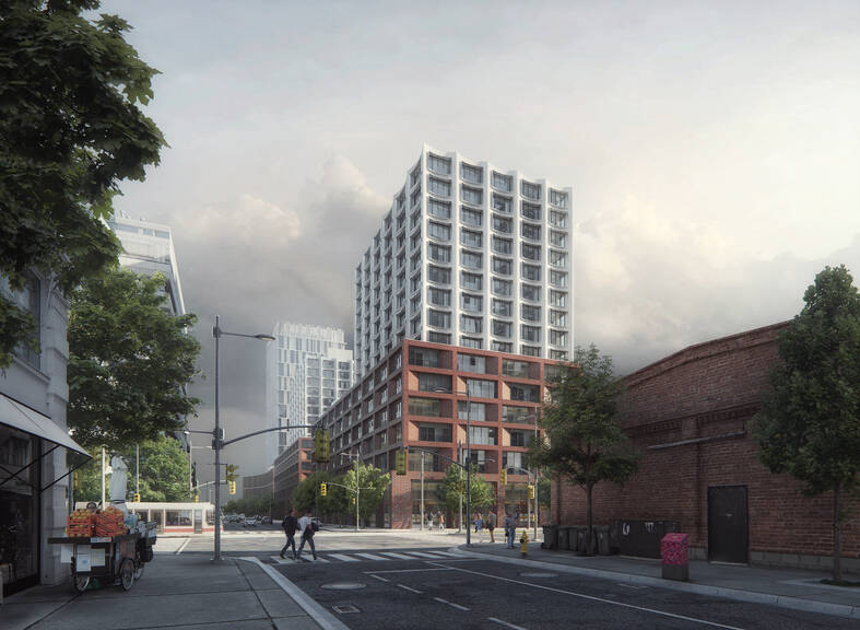 cobe west don lands exterior street